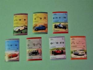 St. Vincent -815-21, MNH Set (Pairs). Automobiles. SCV - $2.00