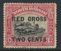 North Borneo  SG 216 SC# B16 MH perf 14 OPT Red Cross  see scan & details