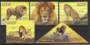 2014   CONGO  -  LIONS  -  MNH