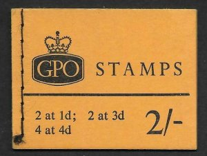 N25 2/- July 1966 Wilding AVC GPO Booklet complete with panes MNH