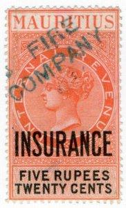 (I.B) Mauritius Revenue : Insurance 5R 20c
