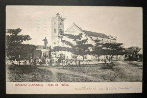 1923 Plaza Padilla Rioacha Columbia to Pennsylvania Real Picture Postcard Cover