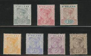 Saint Helena Scott 40-46 MH* 1890-97 Victoria set CV $95