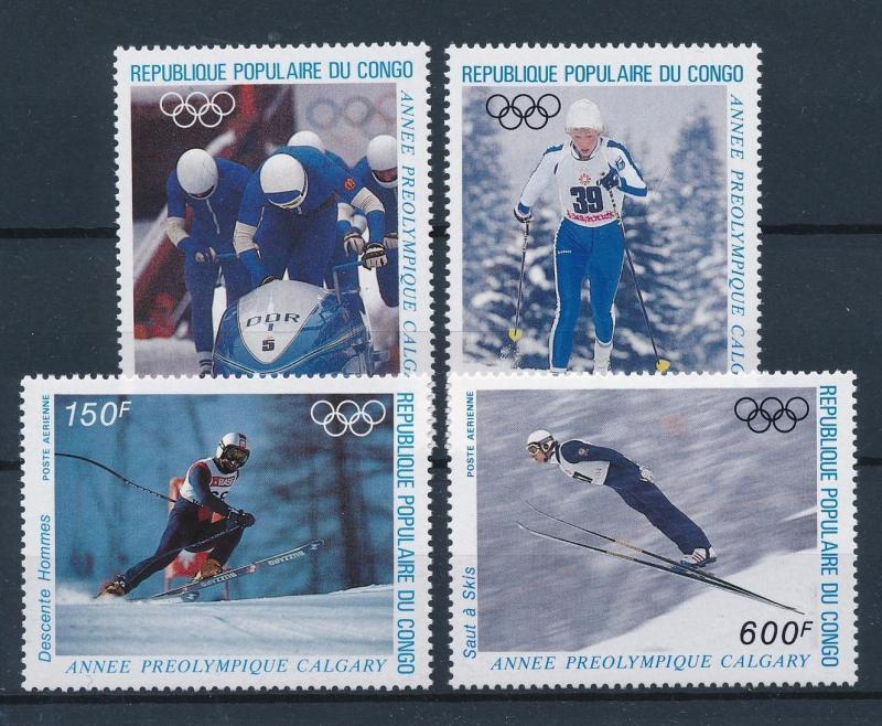[55367] Congo Brazzaville 1986 Olympic games Bobsleigh Ski jumping Skiing MNH