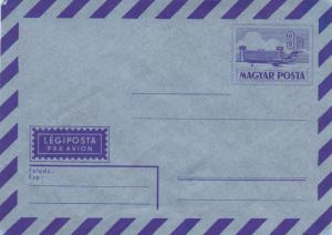 Hungary 3ft Airmail Envelope Unused VGC