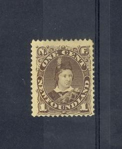 Newfoundland Scott 43 Mint hinged (Catalog Value $110.00)