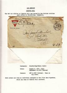 1918, AEF in BEF: Chattis Hill 171th Aero Sqd., See Remark (M3742)