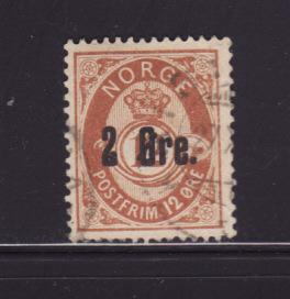 Norway 46 Set U Post Horn and Crown (A)