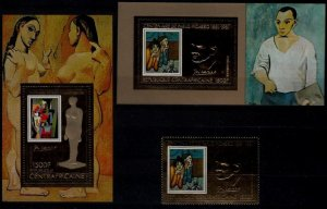 Central Africa C247A-47B MNH Painting/Picasso SCV57