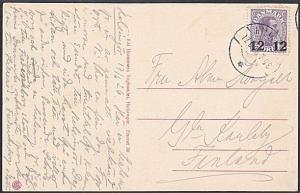 DENMARK 1926 12ore on 15ore used on postcard - scarce......................53846