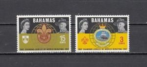 Bahamas, Scott cat. 267-268. Scouting Diamond Jubilee issue. Light Hinged.