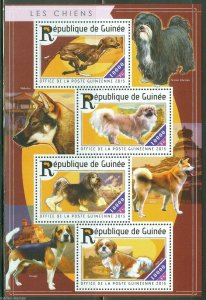 Guinea MNH S/S Dogs 2015 4 Stamps
