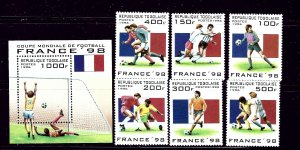 Togo 1713-19 MNH 1996 Soccer