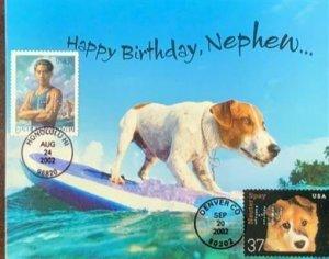 HNLP Hideaki Nakano Greeting Card Spay Neuter 3671 Dog Happy Birthday Nephew