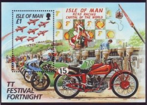 Isle of Man 1996, Motorcycle Races MNH S/Sheet # 705