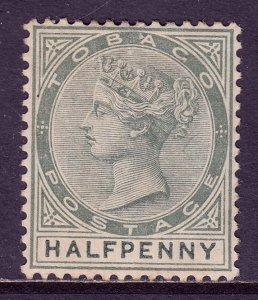 Tobago - Scott #15 - MH - Toning, paper adhesion on reverse - SCV $2.75