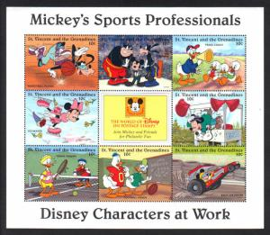 St. Vincent Grenadines-Disney Mickey's Sports VF NH 8 stamps