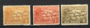 New Guinea #1,3,7   Mint VF 1925-28 PD