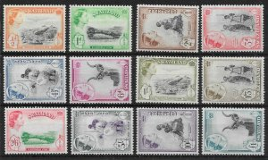 SWAZILAND SG53/64 1956 DEFINITIVE SET MTD MINT