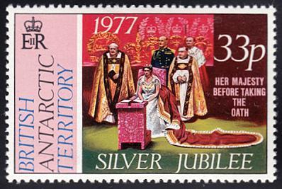 British Antarctic Territory # 70 mnh ~ 33p Silver Jubilee