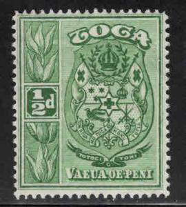 TONGA  Scott 39 MH* 1934 coat of arms stamp turtle watermark