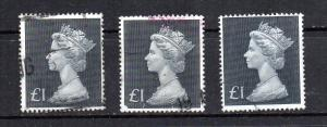Great Britain MH 168 3 used copies