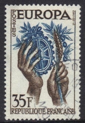 France  #847  1957  Used Europa 35f.