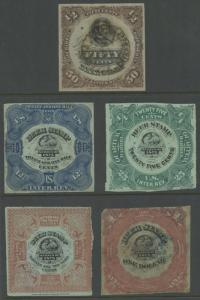 #REA25 // REA35 (5) DIFF BEER STAMP COLLECTION -- NICE QUALITY -- CV $525 BU5616