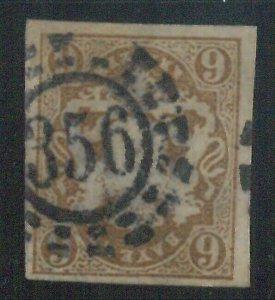 78001b  - GERMANY Bayern - STAMP: Michel  #  20  -   Very Fine  USED