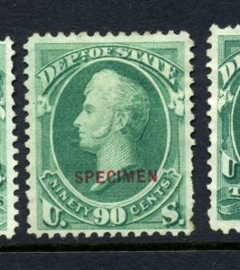O67S State Dept. Special Printing Specimen Official Stamp (Stock O67-14)