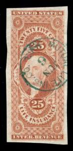 MOMEN: US STAMPS #R47a REVENUE HANDSTAMP XF