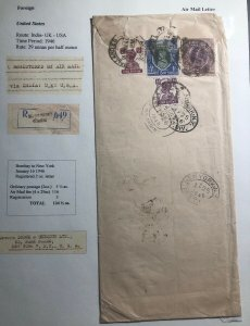 1946 Bombay India Commercial Airmail Cover To Dodge & Seymour New York USA