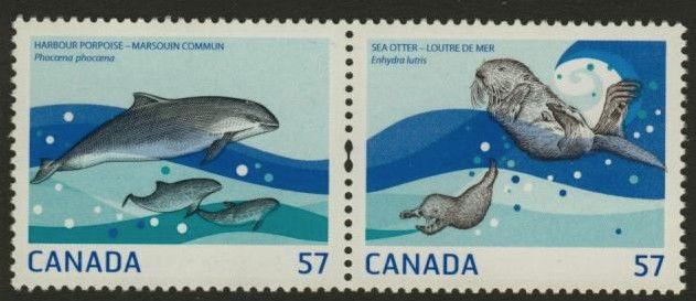 Canada 2387c-d MNH Marine life, Seal, Porpoise