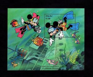 PALAU - 1994 - DISNEY - MICKEY & MINNIE - SHIPWRECK - MINT - MNH S/SHEET!