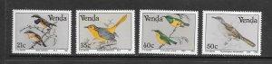 BIRDS - SOUTH AFRICA-VENDA  #221-4  MNH