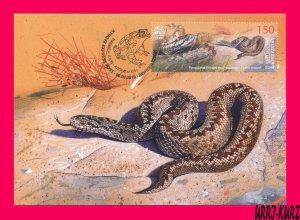 KYRGYZSTAN 2019 Fauna Animals Reptiles Amphibians Snake Viper Maxicard Card