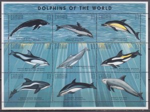 1996 Gambia 2243-51KL Dolphins 10,00 €