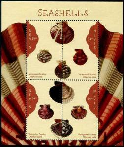 HERRICKSTAMP NEW ISSUES NEVIS Seashells Sheetlet