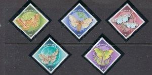 Botswana 688-92 MNH 2000 Moths (ap7038)