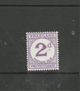 Swaziland 1933/57 Postage Due 2d Chalky Paper, MM SG D2a