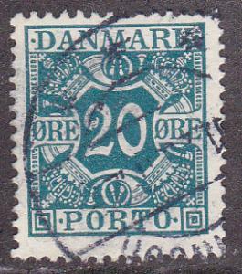 Denmark # J17, Postage Due, Used