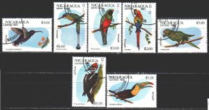 Nicaragua. 1981. 2217-23. Birds, fauna. USED.