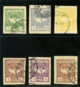 Batum 1919 KGV complete set of 6 very fine used. SG. 1-6. Sc 1-6.