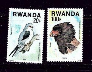 Rwanda 834-35 MNH 1977 Birds Partial Set
