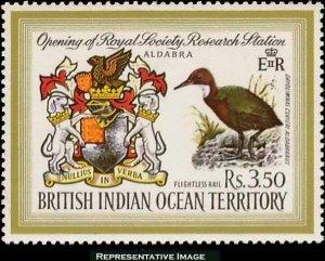 British Indian Ocean Territory Scott 43 Unused lightly hinged.