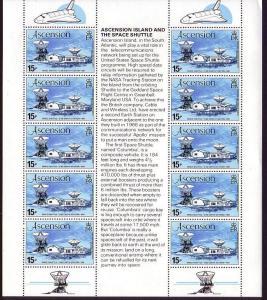 Ascension Space Shuttle Sheetlet of 10v SG#281 SC#273