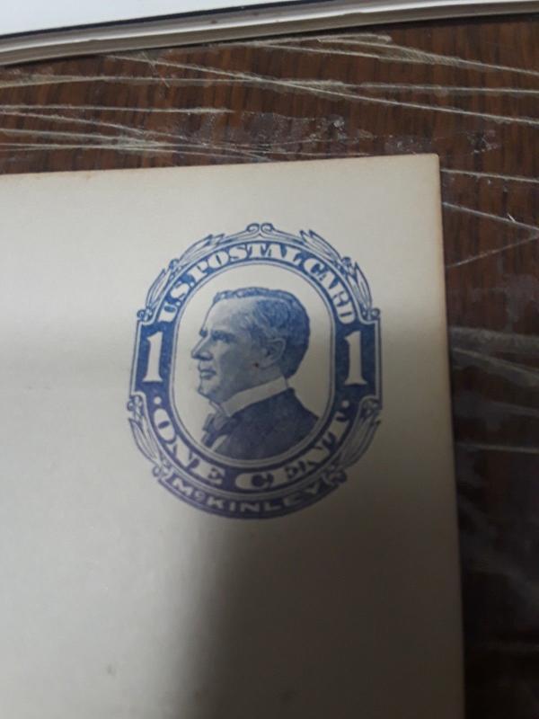 1910 1c Blue McKinley Mint Post Card