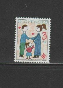 SLOVAKIA #177  1994 INTERNATIONAL YEAR OF THE FAMILY    MINT VF NH O.G
