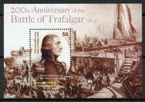 Grenadines Grenada 2005 MNH Battle of Trafalgar 1v S/S Military Ships Stamps