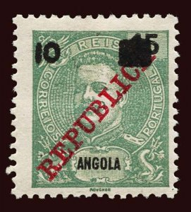 ANGOLA Scott #115 1912 King Carlos 1903 stamp overprinted, surcharged unused HR